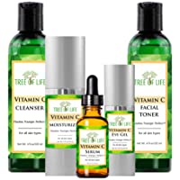 Complete Vitamin C Combo Pack - Vitamin C Serum, Moisturizer, Eye Gel, Cleanser, and Toner