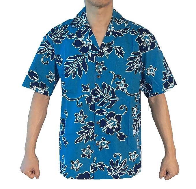 8f0b5bc3 Alohawears Clothing Company Made in Hawaii! Men's Hibiscus Flower Classic  Hawaiian Shirts: Amazon.ca: Clothing & Accessories