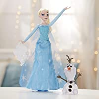 Disney Frozen Icy Lights Elsa Doll with Olaf Figure