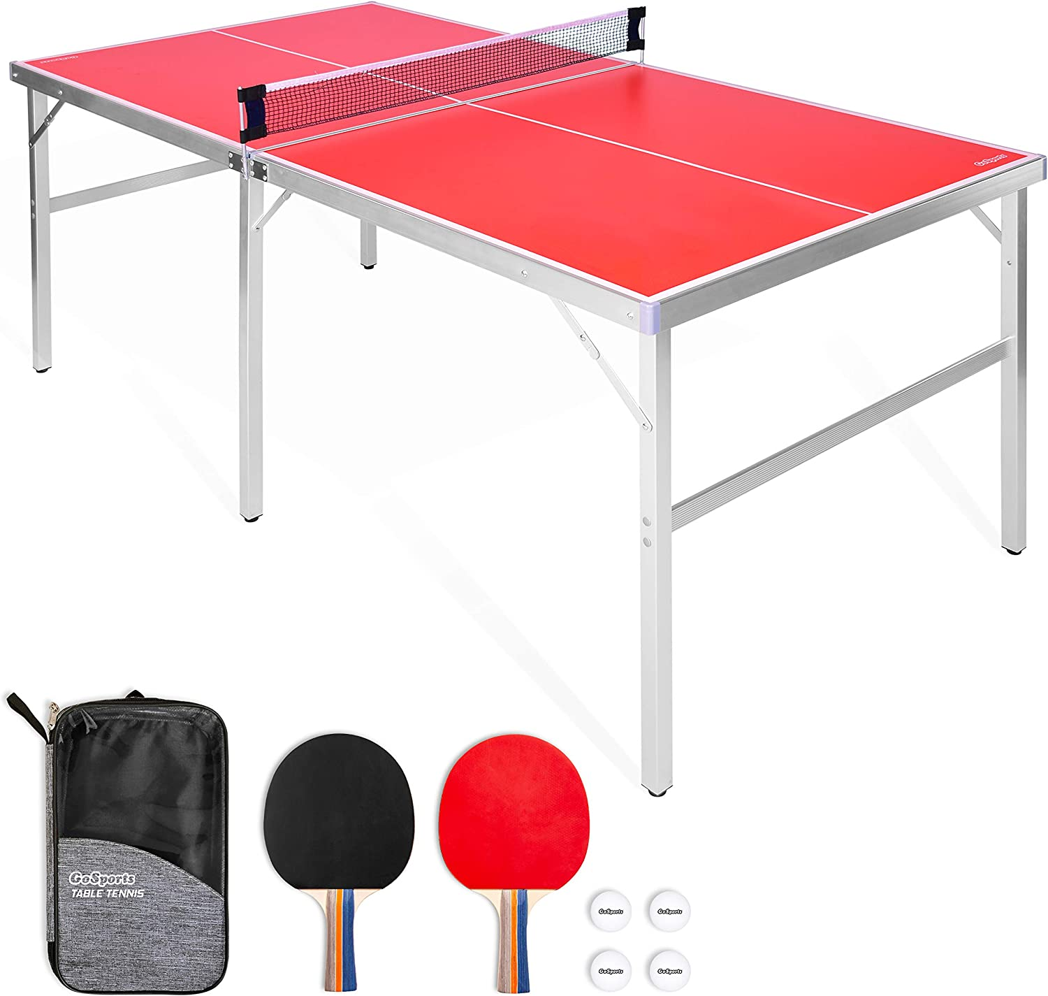 GoSports 6' x 3' Midsize Table Tennis Table