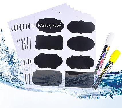 Etiquetas Adhesivas de Pizarra, 80 Pack