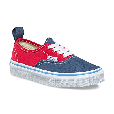 740d336db2801e Vans Kids Tri Pop Authentic Elastic Lace Vintage Indigo Bonnie Blue Rococco  Red VN0A38H4Q6J