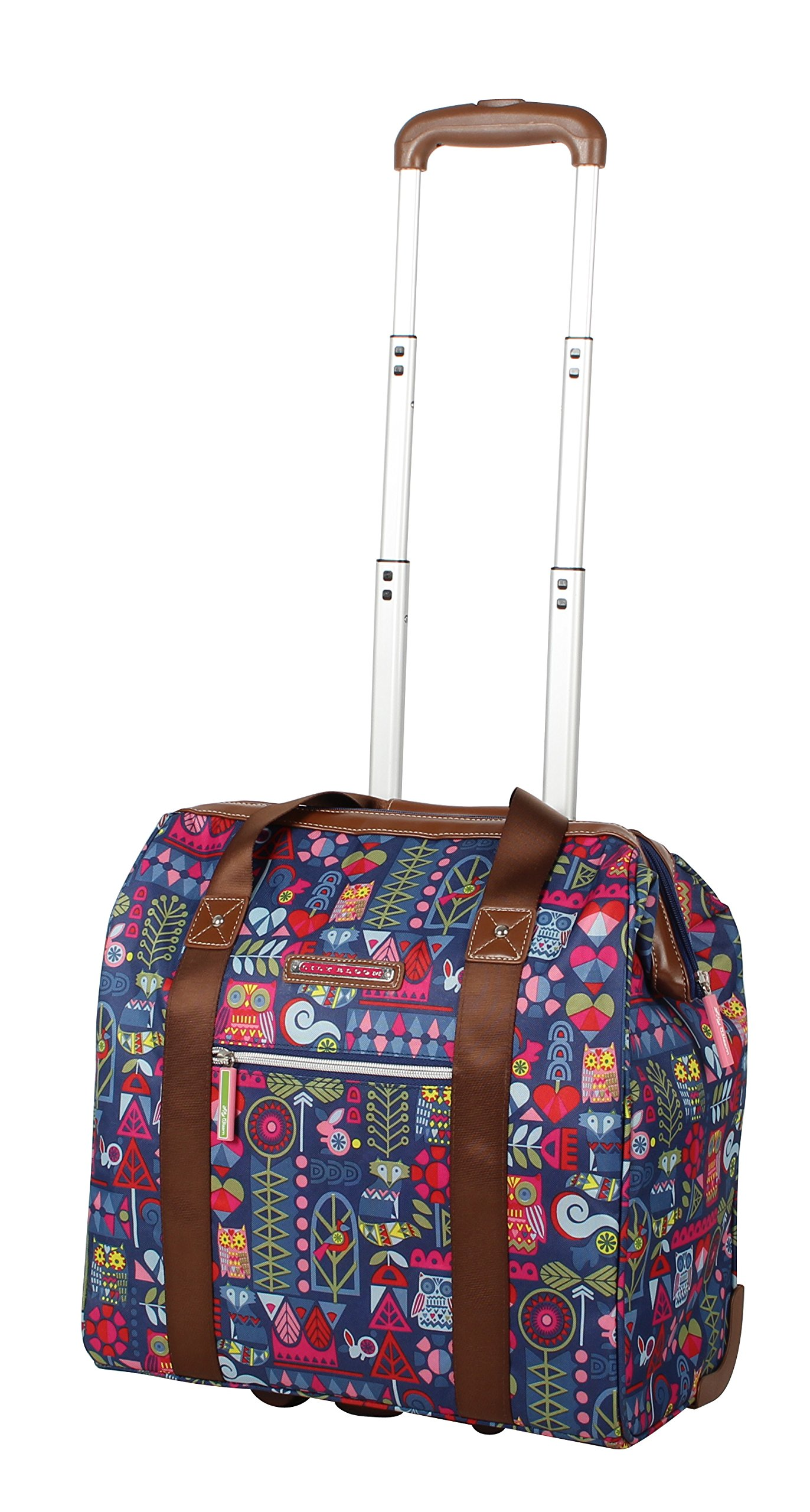 Lily Bloom Luggage 3 Piece Softside Spinner Suitcase Set Collection (Geo Critter) by Lily Bloom (Image #5)