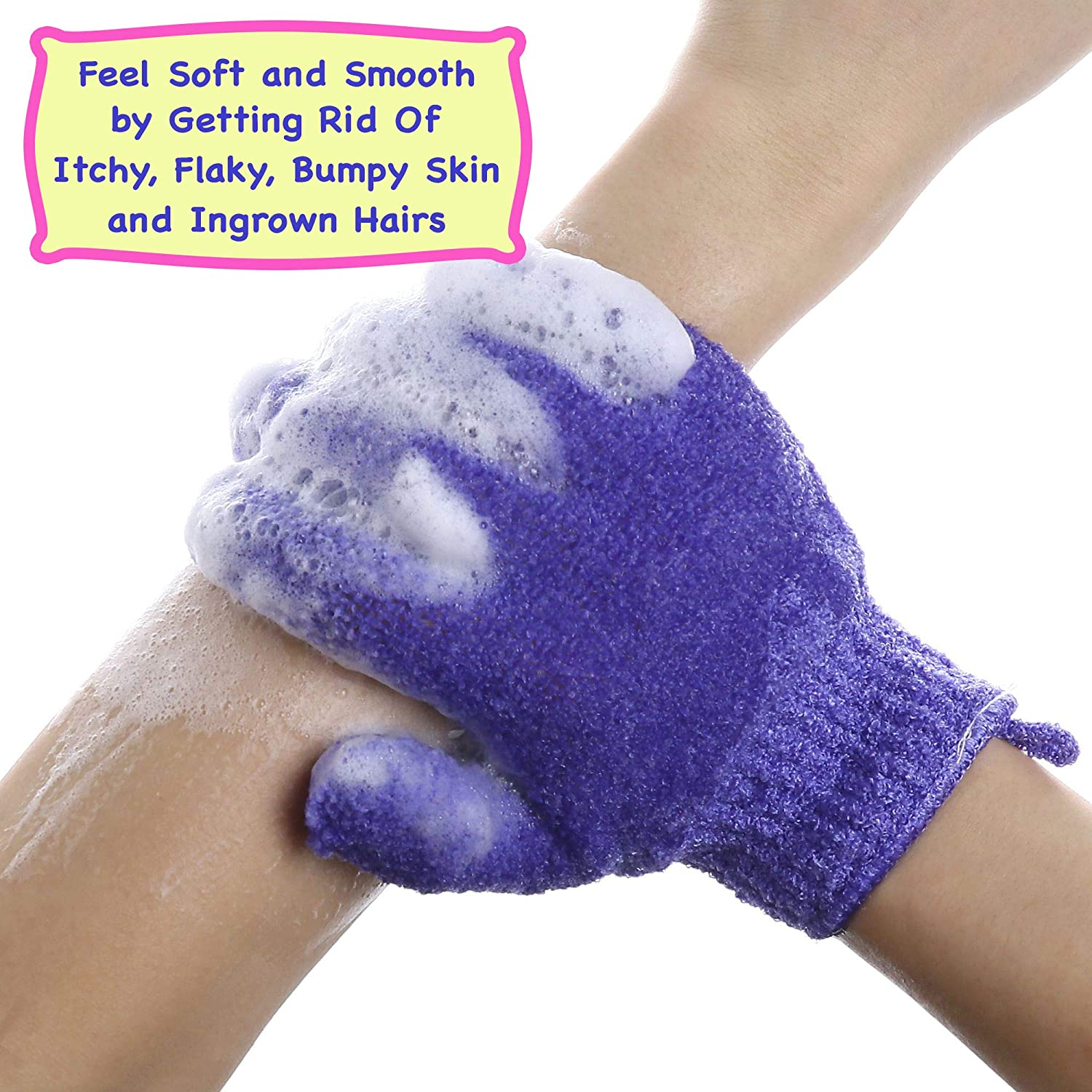 SMITCO Exfoliating Body Scrub Gloves