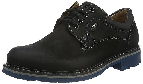 Fretz Men Boris - Zapatos con Cordones de Cuero Hombre, Color Marrón, Talla 43
