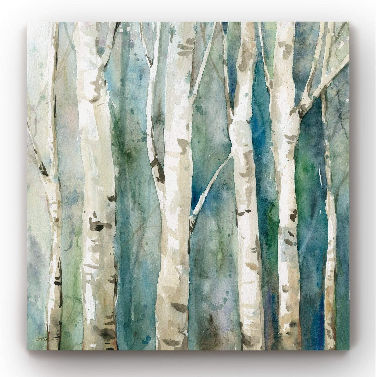 Canvas Wall Art, Wall Décor Canvas, Modern, Contemporary, Rustic, Romantic, & Industrial, Ready to Hang - River Birch II 32X32