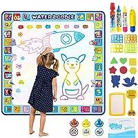 Tobeape® 100 X 100 cm Extra Large Aqua Magic Doodle Mat, Colorful Educational Water Drawing Doodling Mat Coloring Mat for Kids Toddlers Boys Girls Age of 2 3 4 5 6 7 8