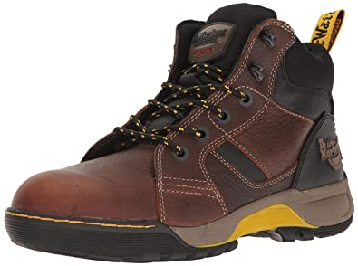 Womens Grapple Steel Toe 6 Tie Boots, Brown Leather, Rubber, 3 M UK, 5 M US Dr. Martens