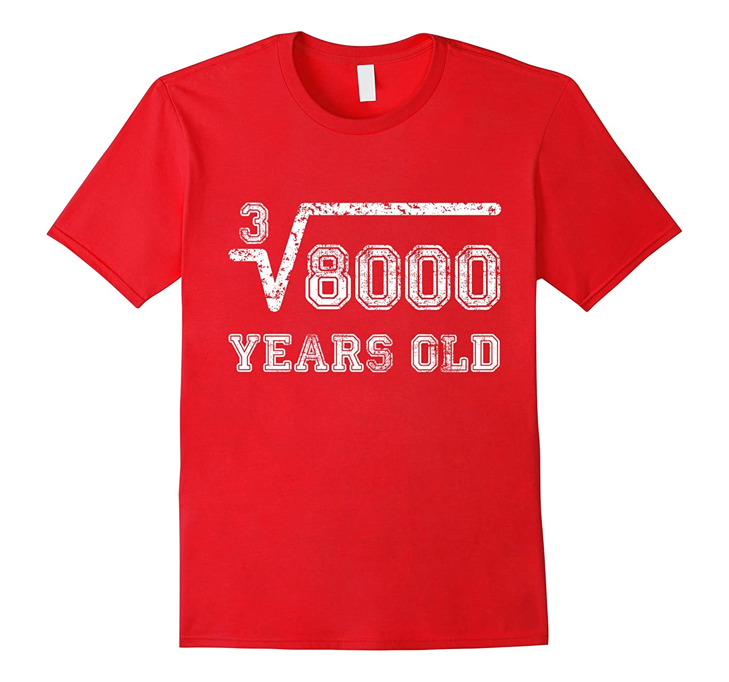 Funny 20th Birthday Gift Cube Root Of 8000 20 Years Old Tee RT Rateeshirt