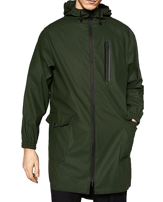 Zara - Abrigo - para hombre verde verde Medium: Amazon.es: Ropa y accesorios