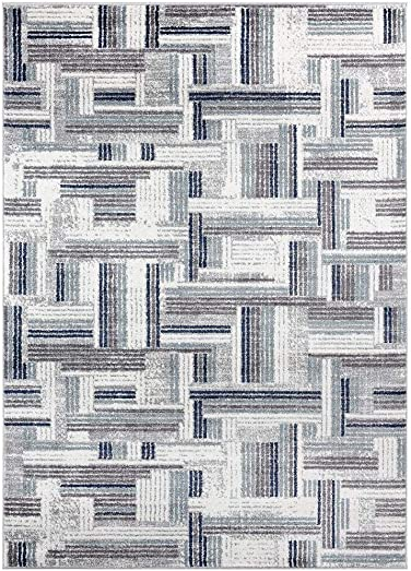 Luxe Weavers Hampstead Blue Abstract 8 x 10 Area Rug