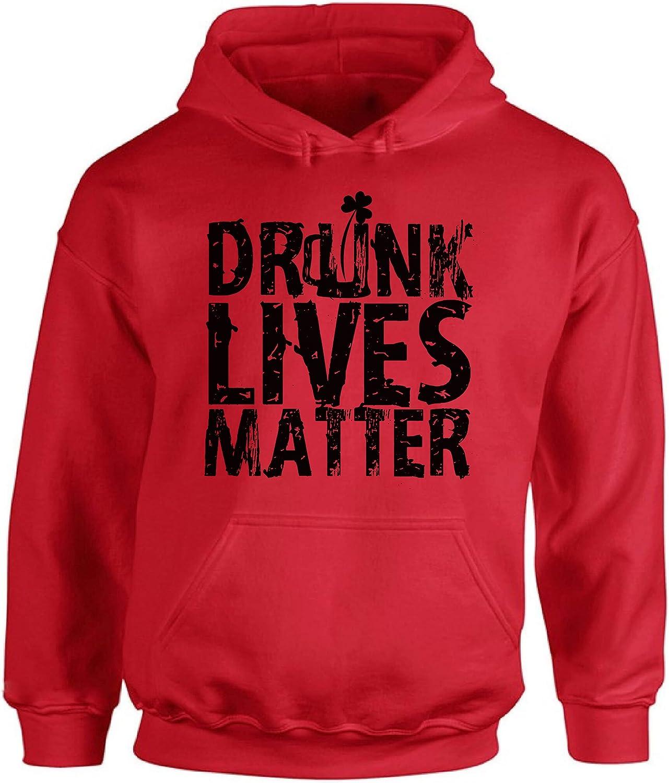 Awkward Styles Unisex Drunk Lives Matter Hoodie Hooded Sweatshirts St Patricks Day Hoodie Hooded Sweatshirts