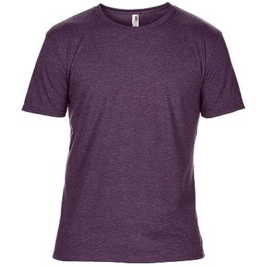 c4c29fe4 Anvil Mens Plain Short Sleeve Tri-Blend T-Shirt: Amazon.co.uk: Clothing