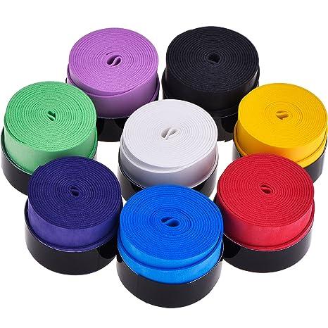 8 Piezas Overgrip de Raqueta de Tennis Badminton para Grip Antideslizante y Absorbente, Colores Variados