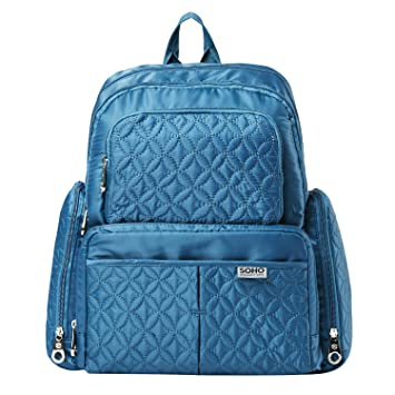 Amazon.com   Diaper Bag Backpack for Mom or Dad with Stroller Straps ... b5d0d59ca6f8f
