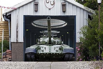 Amazon Single Garage Door Covers Tank Full Color 3d Effect