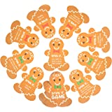 Juvale Christmas Drinking Card Game Drink If, Holiday Party Gingerbread Cards (2.8 x 3.5 in, 30 Pack)