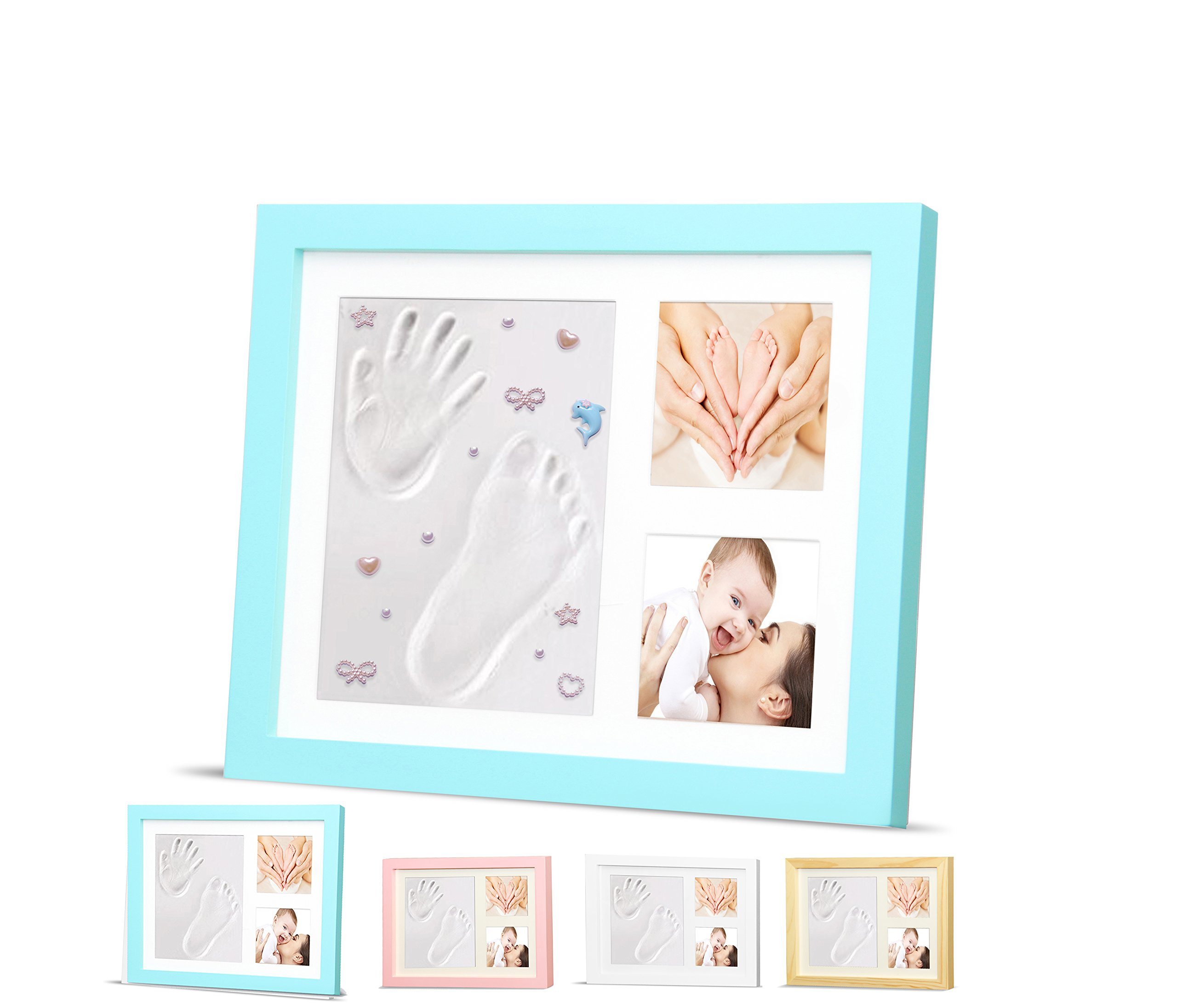 Amazon.com : Timeless Newborn Baby Hand and Footprint Kit and Frame ...