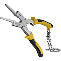 Strong Hand Tools, Deluxe MIG Welding Pliers, 8-Inch, Rounded & Flat Face Hammer,Fine & Coarse Files, Side Pull V-Notch…