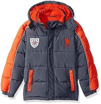 13e72db57 US Polo Association Boys  Toddler Bubble Vestee Jacket with Fleece Hood