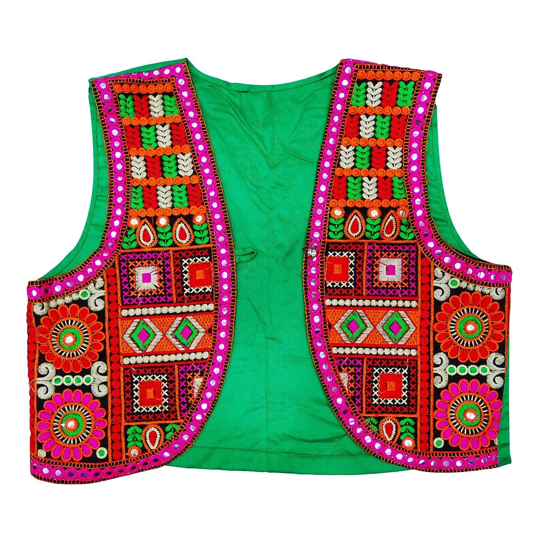 Peegli Indian New Banjara Rajasthani Women Jacket Kutch Embroidered Shrug  Koti
