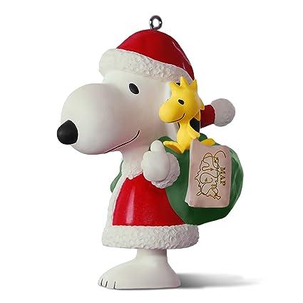 hallmark keepsake 2017 peanuts spotlight on snoopy 20th anniversary porcelain christmas ornament - Snoopy Christmas Ornament