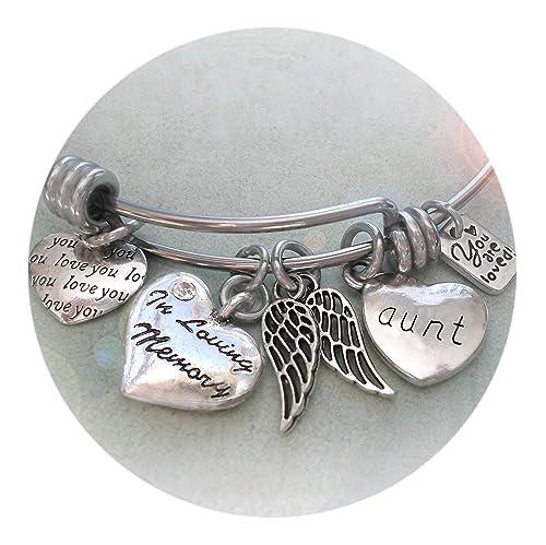 Bangle Bracelet Angel Memory Bangle Bracelet Angel Bracelet Memorial Bracelet