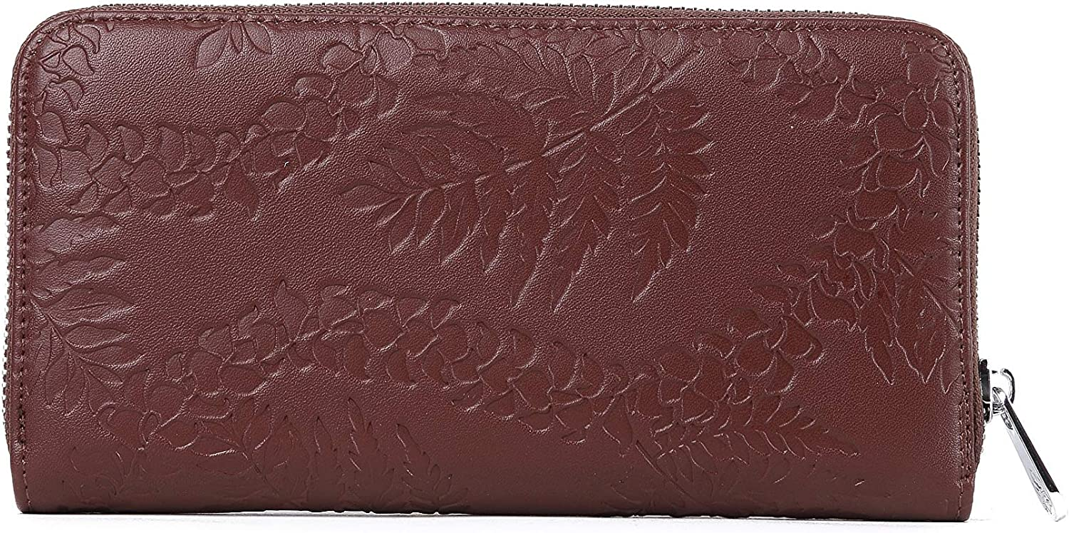 Wallet Kaylee Fern Lei Embossed Brown