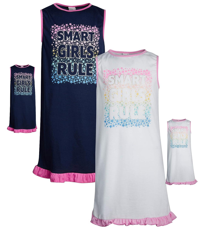 2 Pack BFF /& Me Girls Nightgown Pajama Set with Matching Doll Pajama