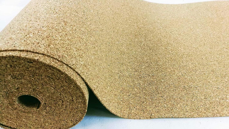 Rollo corcho 4/mm de grosor 5qm //ac/ústico 5/x 1/m //bajo flotante saque de parqu/é, laminado de, y moqueta//w/ärmed/ämmende pared Murales//Aumenta el gehkomfort