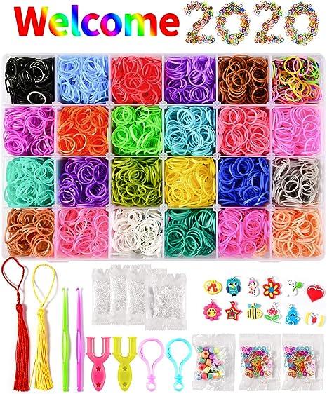 6000x Various Design Rubber Bracelets Colourful Loom Band Making Kit Set