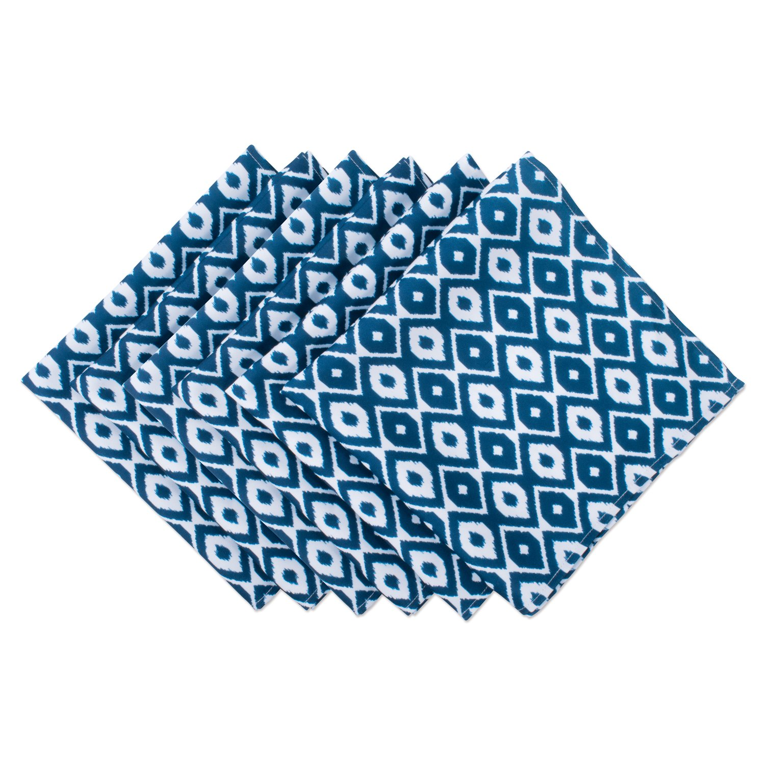 DII CAMZ37513 Cloth S for Everyday Place Settings Family Gatherings Bbq'S Holiday Parties & Catering Events Oversized & Stain Resistant, Blue Ikat by DII
