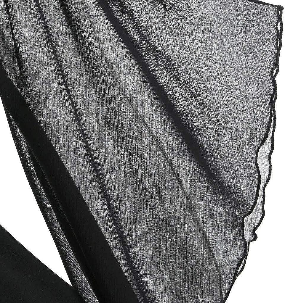 Damen Top Kolylong/® Frauen Gothic Oberteile Tr/ägerlose Schulter Kurzarm Tunika Halloween Hexe Kost/üm Spitzen/ärmel T-Shirt V-Ausschnitt oberteilee Schwarz Loose Fit Party Festlich Kost/üm