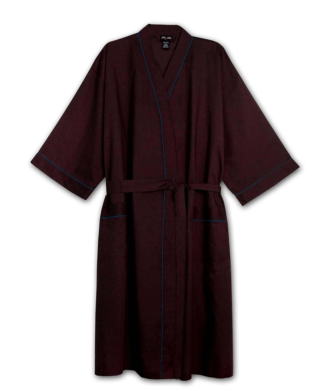 Fox Fire Men's Big Light-Weight Broadcloth Kimono Robe