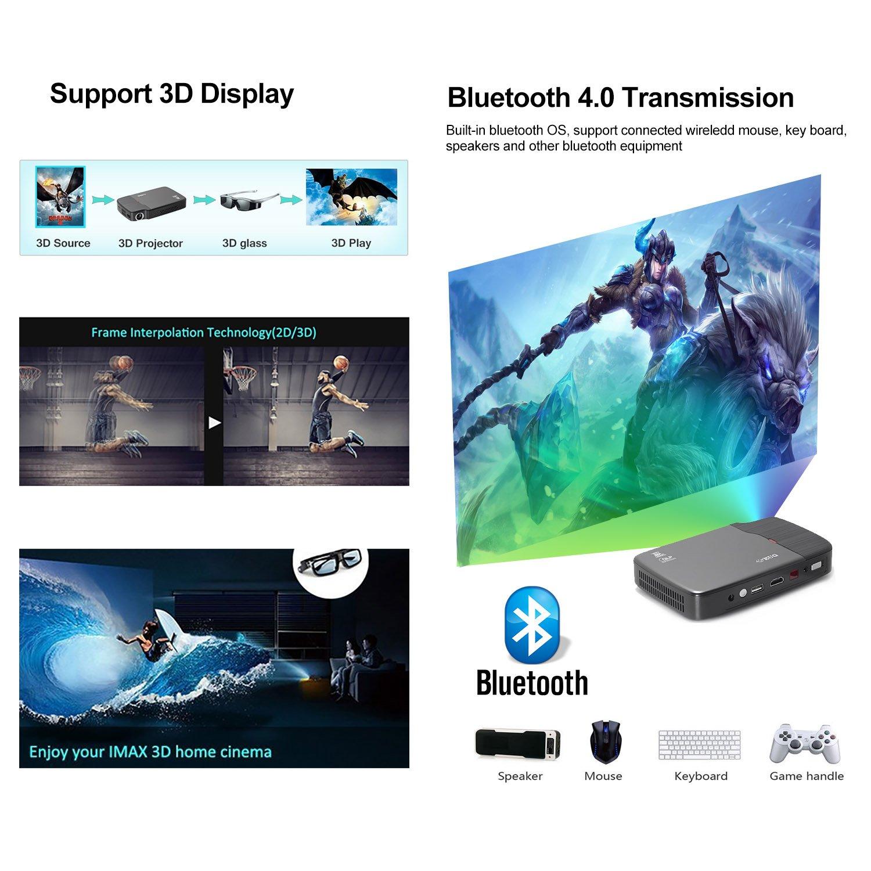 Amazon.com: Portable Video Projector-Full HD 1080p Support ...