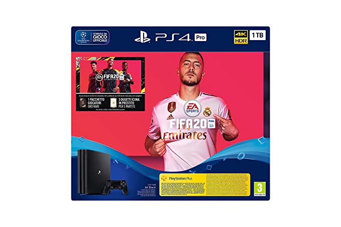 Consola Playstation 4 Ps4 Pro 1 Tb + Juego Fifa 20: Amazon ...