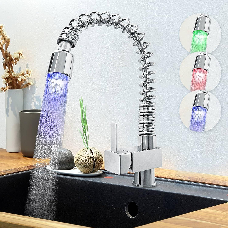 Aquamarin – küar02-Wasserhahn Küche mit Lichter bunt LED ...
