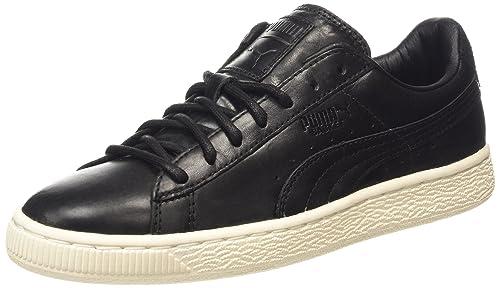 Puma Basket Citi Series - zapatilla deportiva de cuero Unisex adulto, Nero (Schwarz (black-whisper white 03)), 39: Amazon.es: Zapatos y complementos