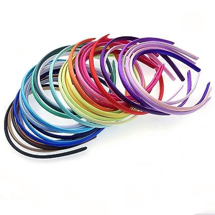 JZK 34 x Multicolor diademas de plástico banda de pelo para niñas mujeres fiesta de cumpleaños para niños favorece regalos