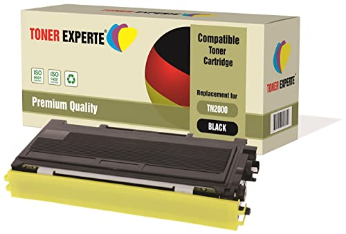 TONER EXPERTE® Compatible with TN2000 Premium Toner Cartridge for Brother DCP-7010, DCP-7010L, DCP-7020, DCP-7025, HL-2030, HL-2032, HL-2040, HL-2050, HL-2070, HL-2070N, MFC-7220, MFC-7225N, MFC-7420, MFC-7820, MFC-7820N, FAX-2820, FAX-2920