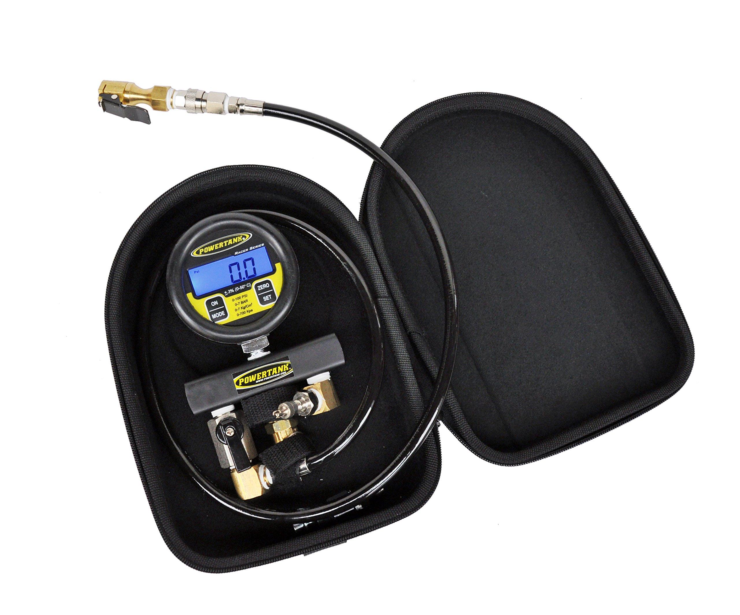 Power Tank PPG-R100 Racer Series 0-100 PSI Digital Tire Pressure/Test Gauge