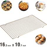 "Ottsuls Professional Grade Stainless Steel Cooling and Roasting Wire Rack Fits Half Sheet Baking Pan for Cookies, Cakes Oven-Safe for Cooking, Smoking, Grilling, Drying (Size 10.1"" x 16.3"")"