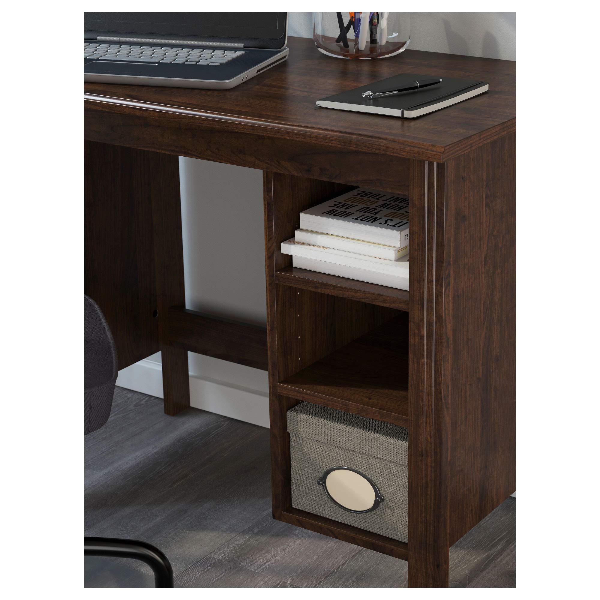 Ikea Brusali Desk Brown Buy Online In Cambodia At Desertcart