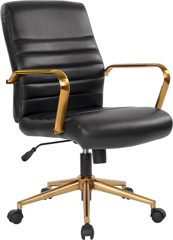 Osp Home Furnishings Baldwin Office Chair Black Furniture Decor Amazon Com