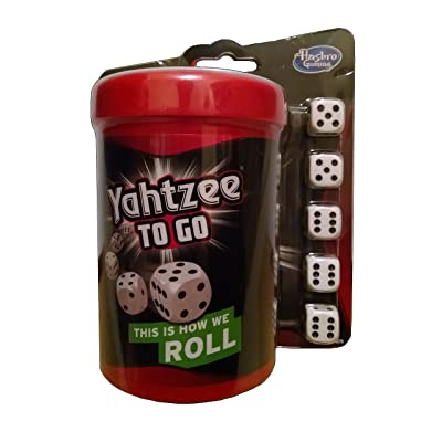 Hasbro Yahtzee to Go Travel Game 2014 Gaming: Toys & Games