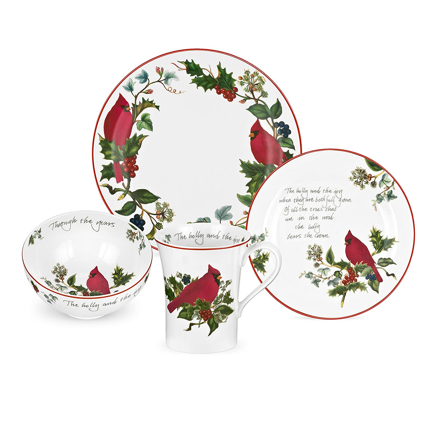 Christmas Cardinal Dinnerware Sets