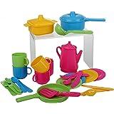 30 tlg Küchenset für Spielküche Töpfe Kinderservice Besteck