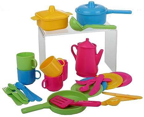 Haberkorn - Set da cucina per bambine, 30 pezzi (pentole e posate ...