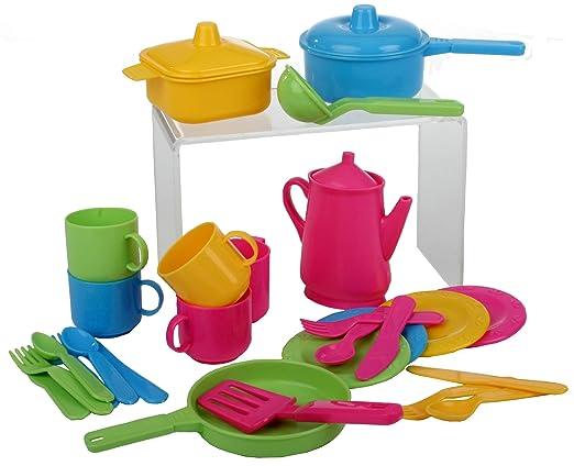15 opinioni per Haberkorn- Set da cucina per bambine, 30 pezzi (pentole e posate)