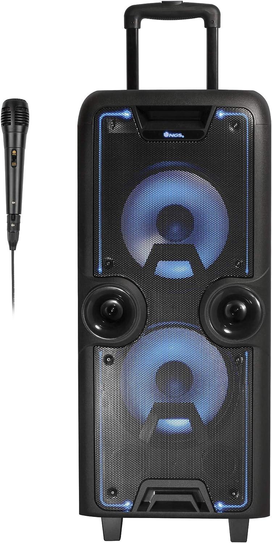 NGS Premium Speaker WildRock - Altavoz portátil con Bluetooth (200W con Micro SD, USB, FM, AUX IN), Color Negro.